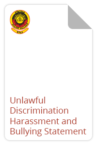 Unlawful Discrimination Harassment and Bullying Statement